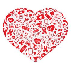 Heart-shaped clipart sun Medical heart Red with royalty