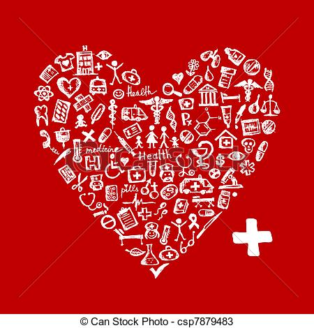 Heart-shaped clipart medical heart Medical heart for Heart of