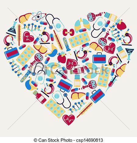 Heart-shaped clipart medical heart Vector icons health Clip Art