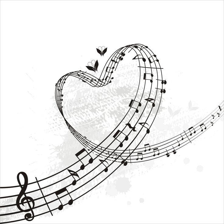 Heart-shaped clipart music notes Rhythm all 20 Music Note