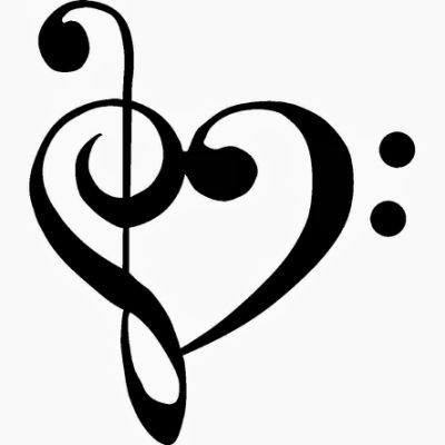 Heart-shaped clipart music notes Music ideas heart tattoo Pinterest