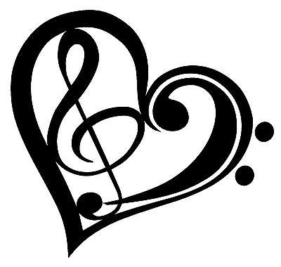 Heart-shaped clipart music notes Best Music Band Music Notes