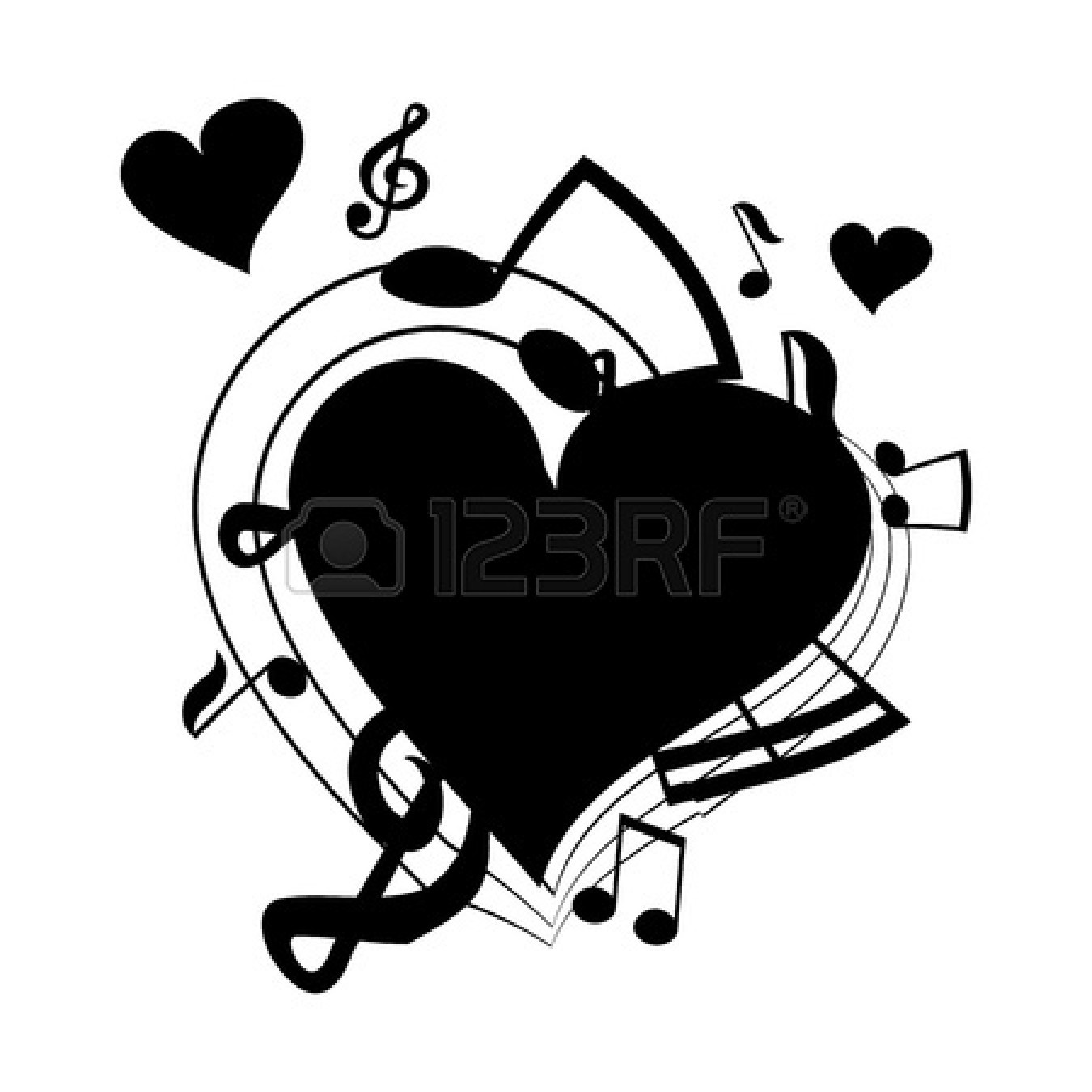 Heart-shaped clipart music notes Music Clipart Heart Heart Clipart