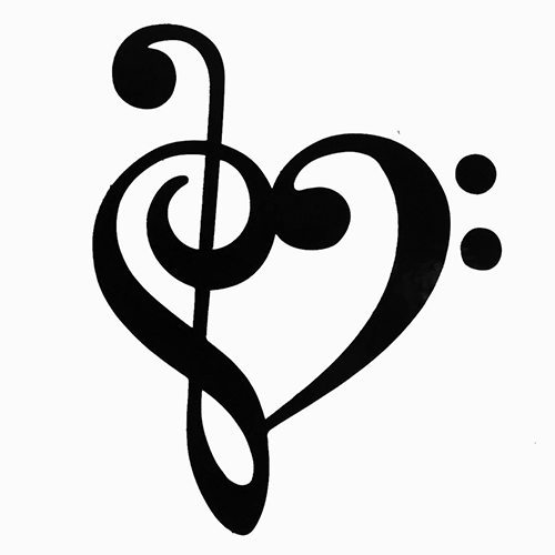 Heart-shaped clipart music notes Clipart Notes Image of Music
