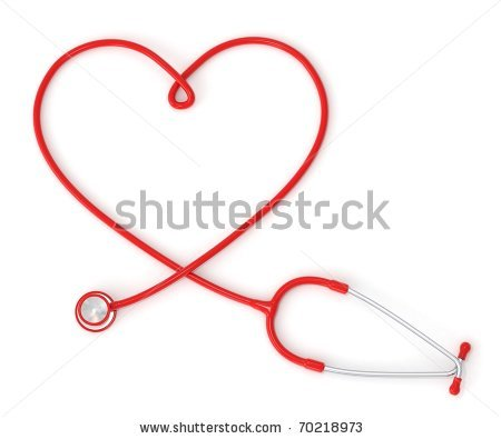 Heart-shaped clipart nurse 3d Nurse shaped 3d stethoscope