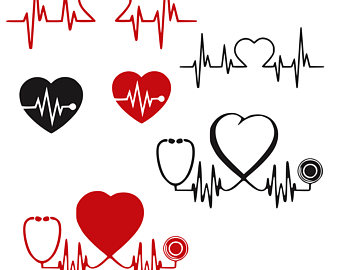 Heart-shaped clipart nurse Svg svg stethoscope Lpn super