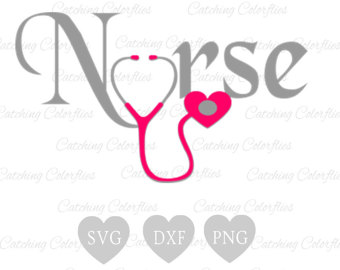 Heart-shaped clipart nurse Nurse Nursing Heart Svg Stethoscope