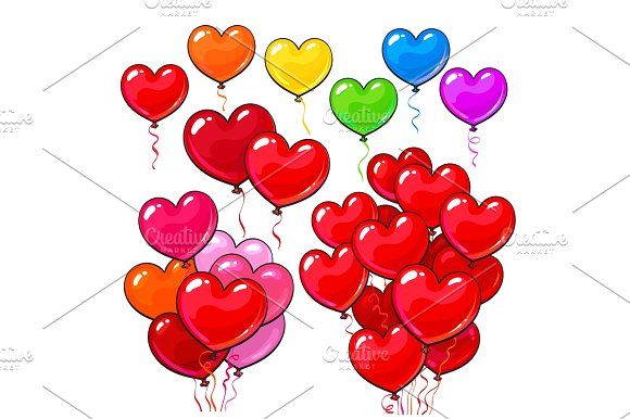 Heart-shaped clipart object Colorful and and  Big