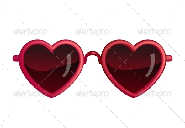 Heart-shaped clipart object Objects Heart Objects Heart GraphicRiver