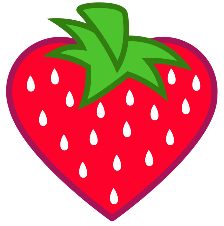 Drawn strawberry watercolor Strawberry [Request] Heart Lahirien Shaped