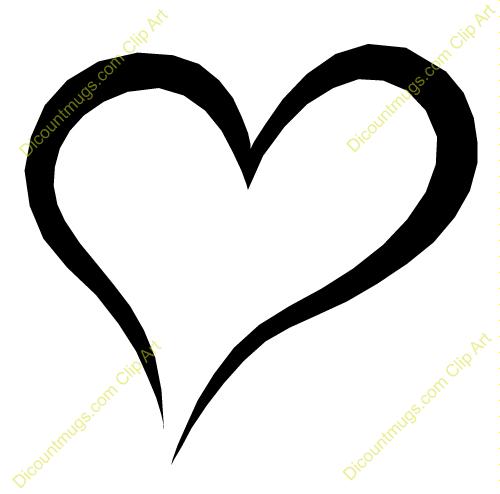 Heart-shaped clipart open heart #1
