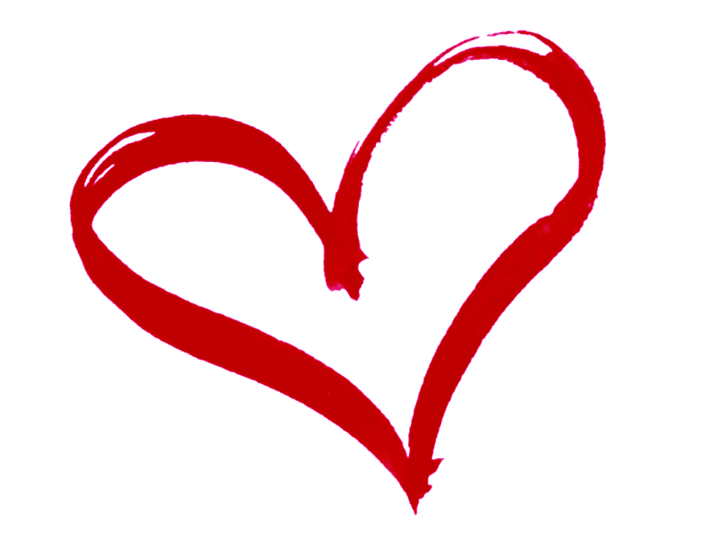 Hearts clipart drawn heart Clip Outline Art Pink on