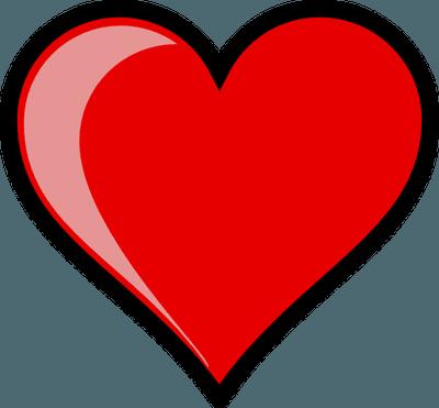 Heart-shaped clipart open heart #11