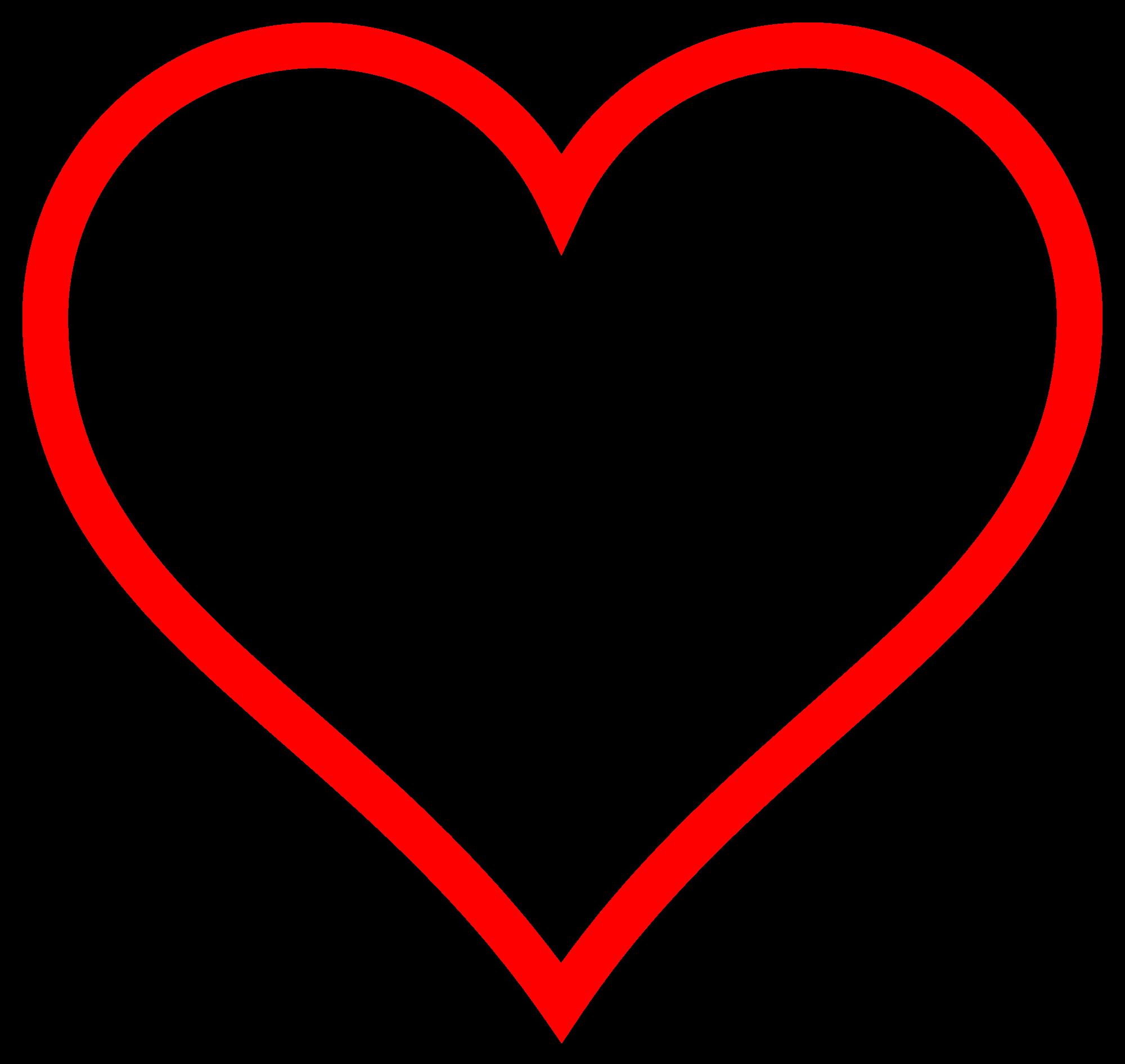 Heart-shaped clipart open heart #14
