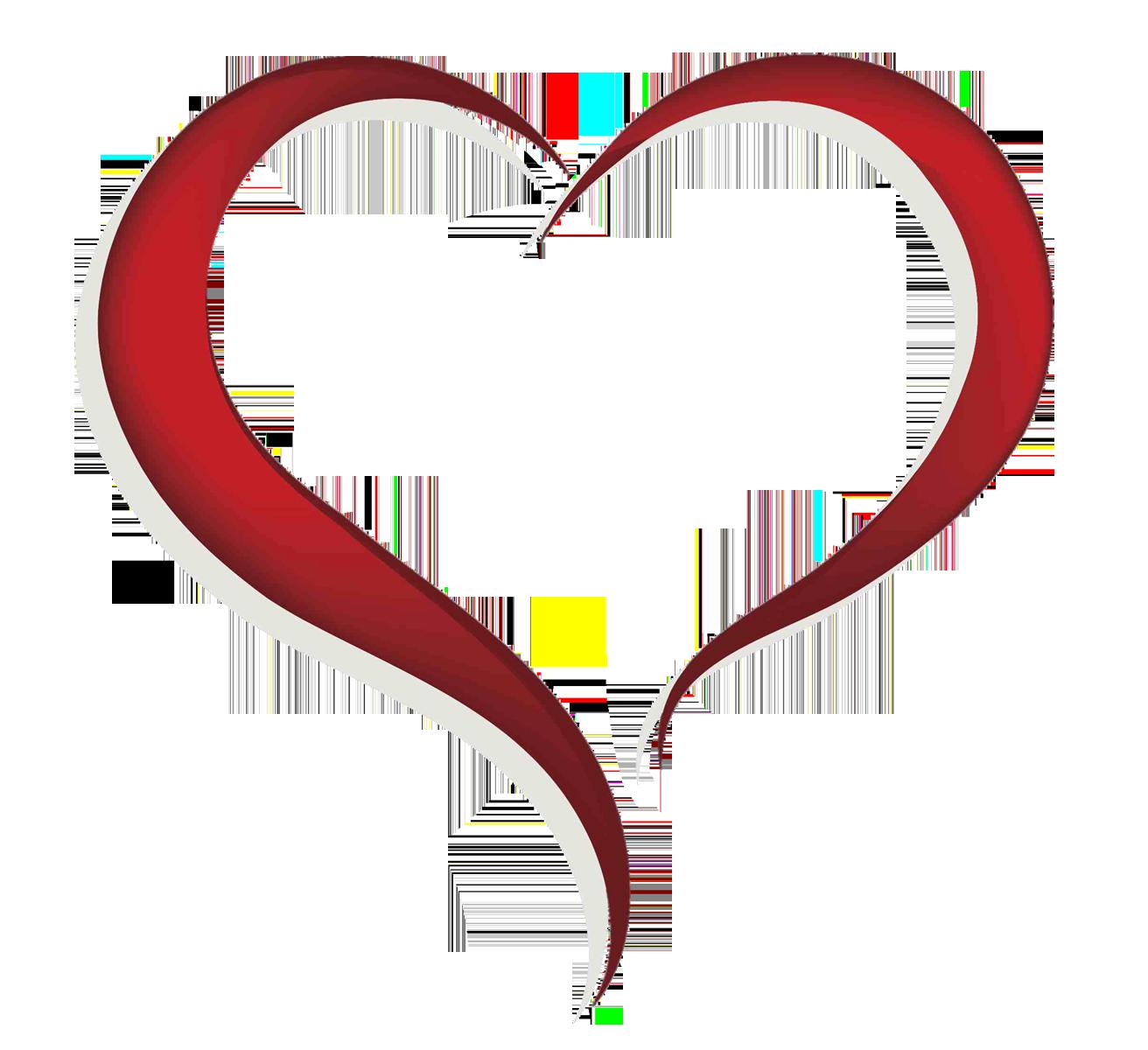 Heart-shaped clipart open heart #8