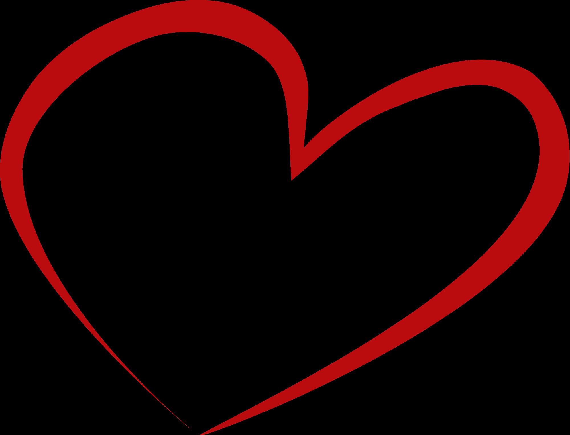Heart-shaped clipart open heart #4