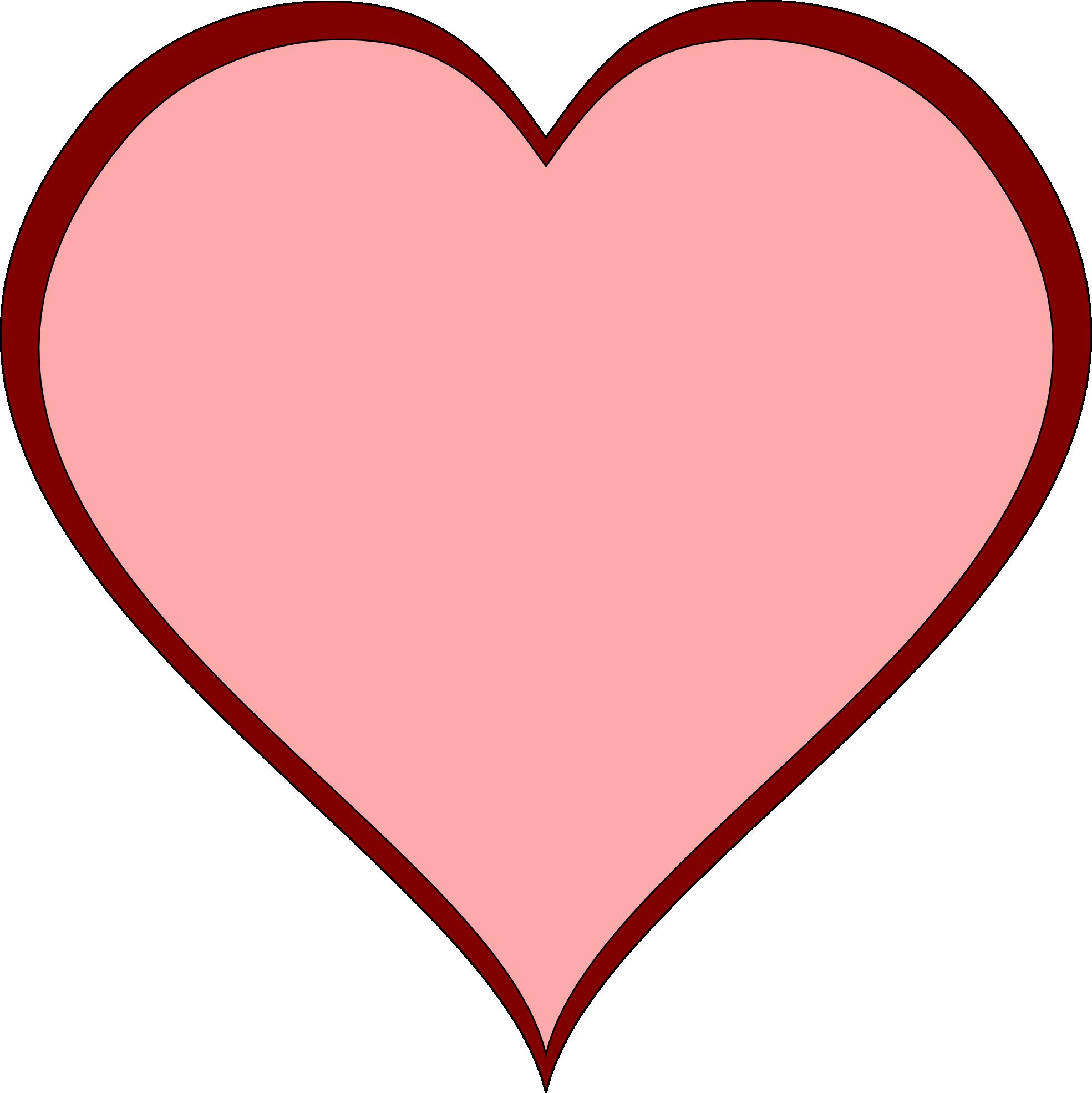Heart-shaped clipart open heart #7