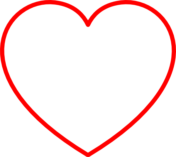 Heart-shaped clipart outlined #4
