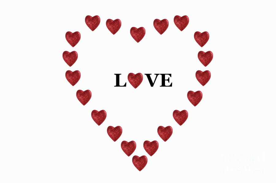 Heart-shaped clipart outlined #13