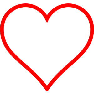 Heart-shaped clipart outlined #5