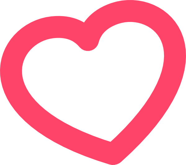 Heart-shaped clipart outlined #12