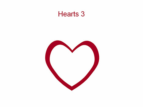Heart-shaped clipart outlined #9