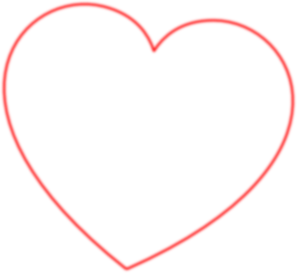 Heart-shaped clipart outlined #8