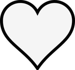 Heart-shaped clipart outlined #2