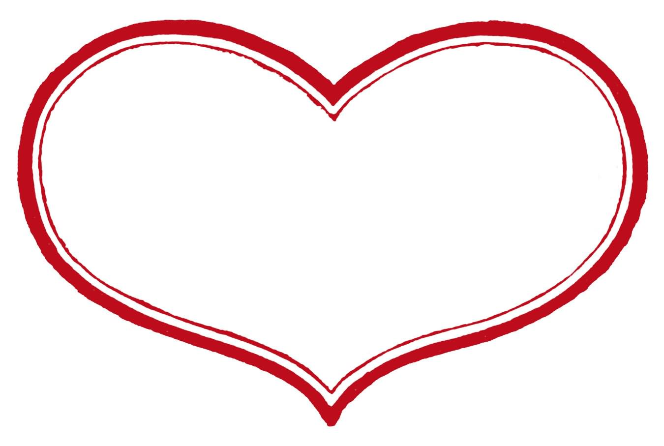 Heart-shaped clipart outlined #10