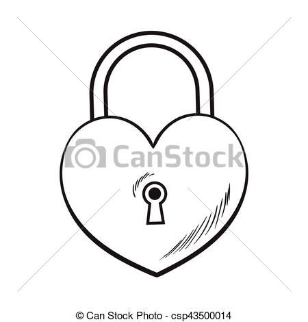 Heart-shaped clipart padlock For padlock csp43500014 ceremony of