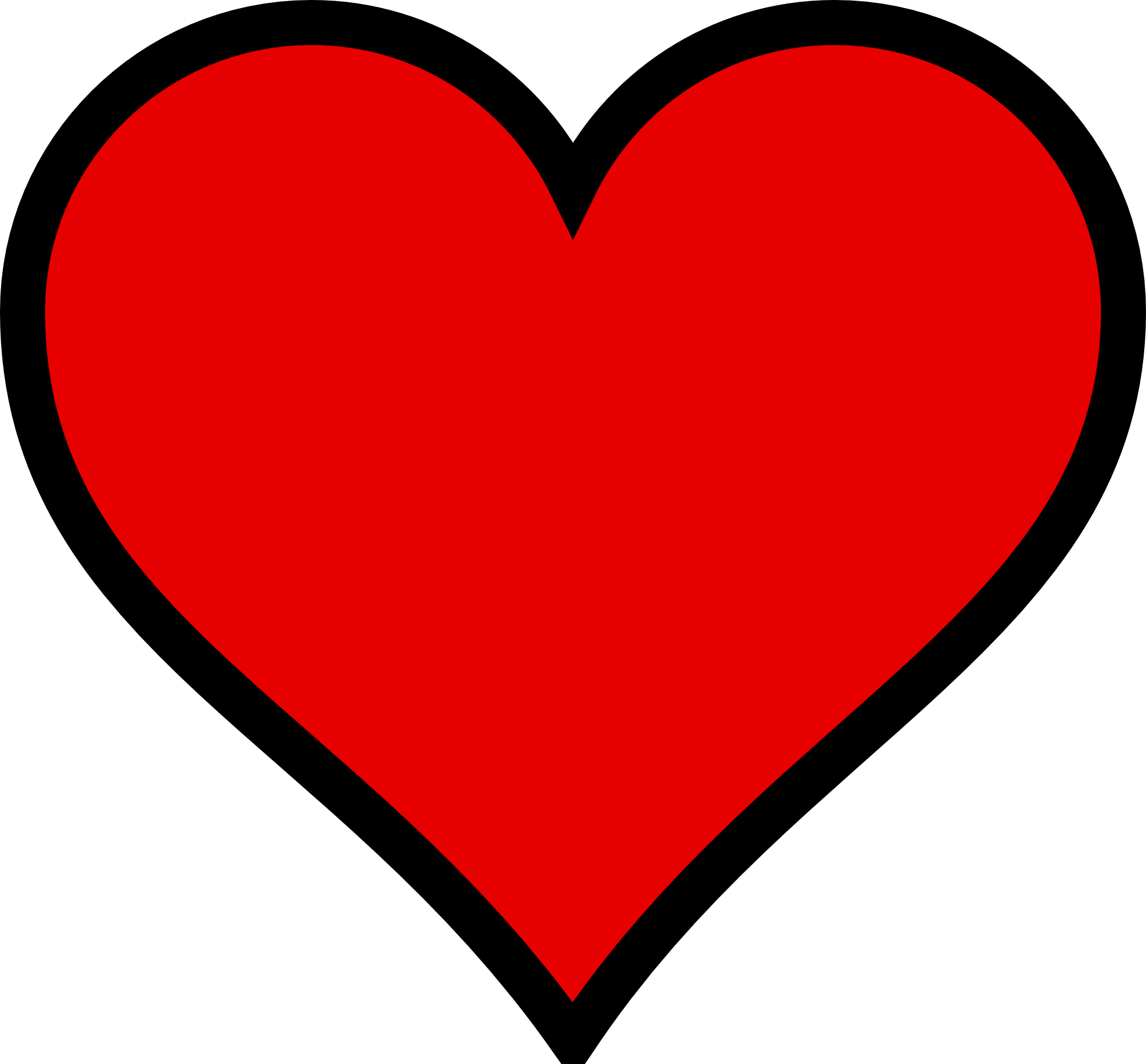 Heart-shaped clipart perfect #3