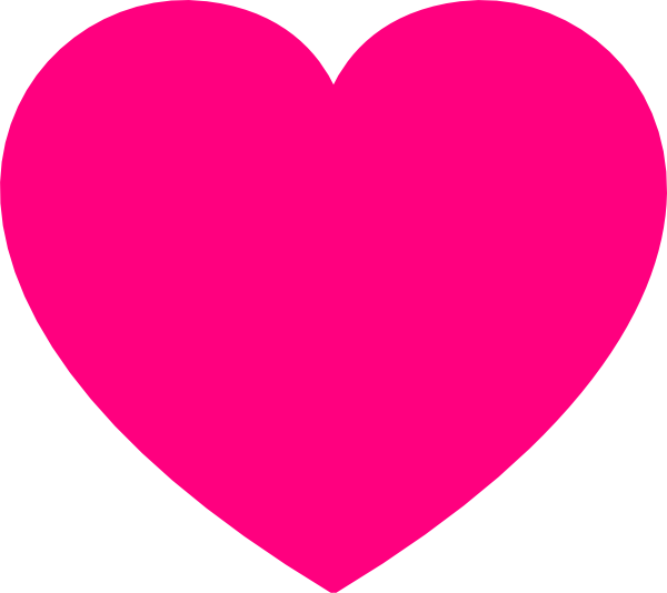Heart-shaped clipart pink At Pink com Download Clker
