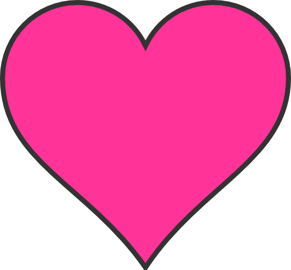 Heart-shaped clipart pink Free shape clipart art images