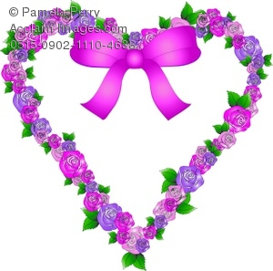 Purple Rose clipart love #1