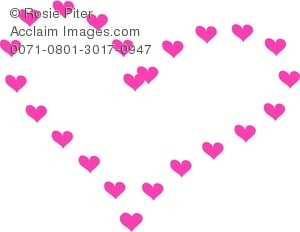 Heart-shaped clipart pink Pink Heart Illustration Clipart Hearts