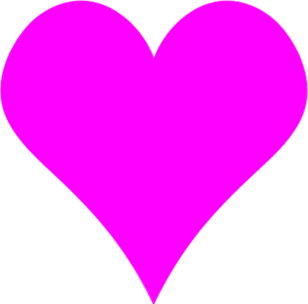 Heart-shaped clipart pink Zone Heart Pink Heart Cliparts