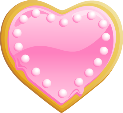 Heart-shaped clipart plain Online Clip Frosting Free