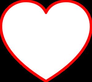 Heart-shaped clipart plain Art Outline Red Clip clip