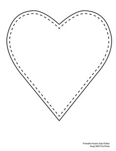 Heart-shaped clipart plain Projects Heart Templates Shaped clip