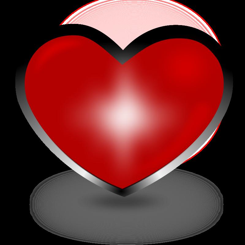 Heart-shaped clipart plain Plain Shape Red Download Clipart