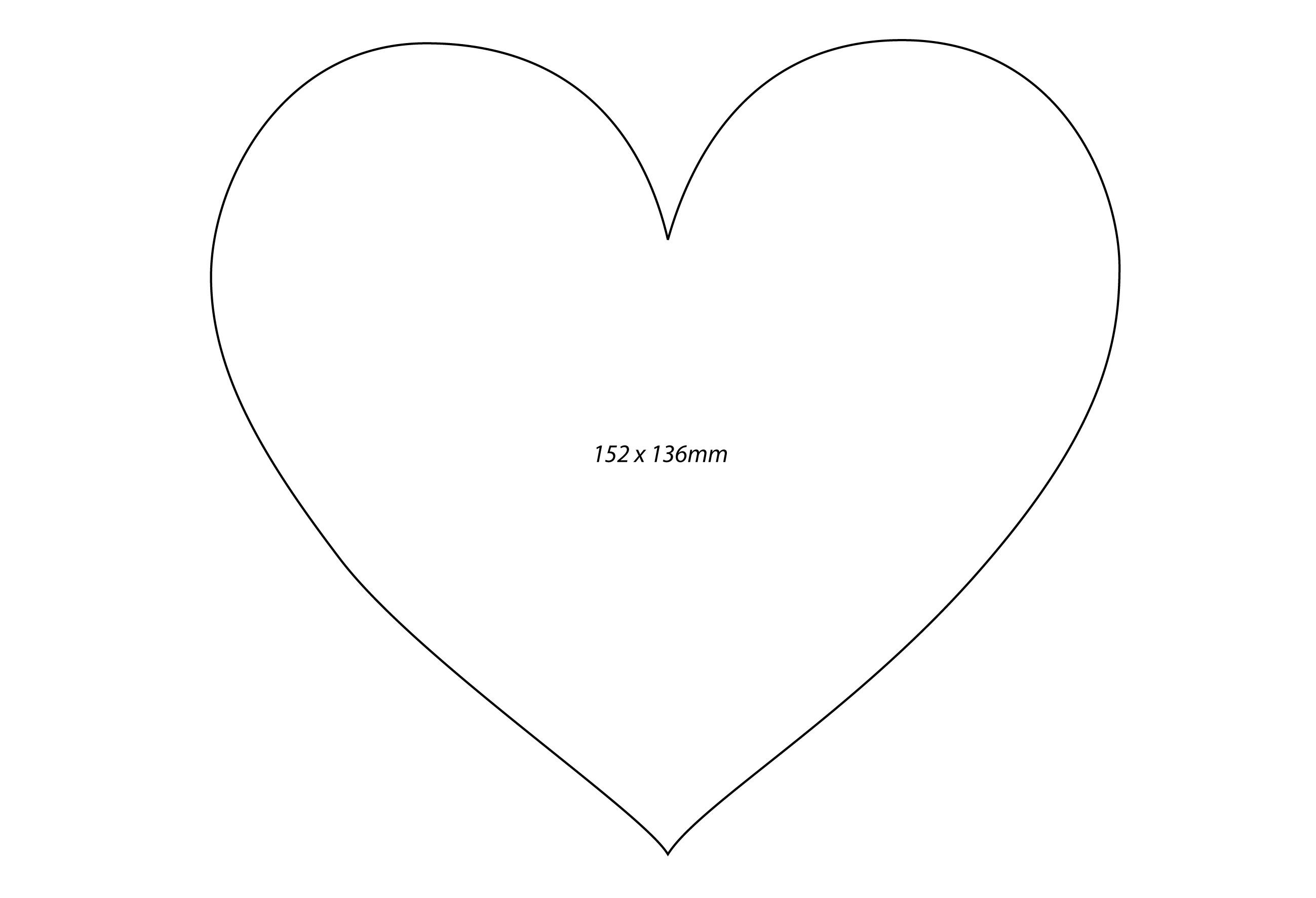 Heart-shaped clipart printable #7