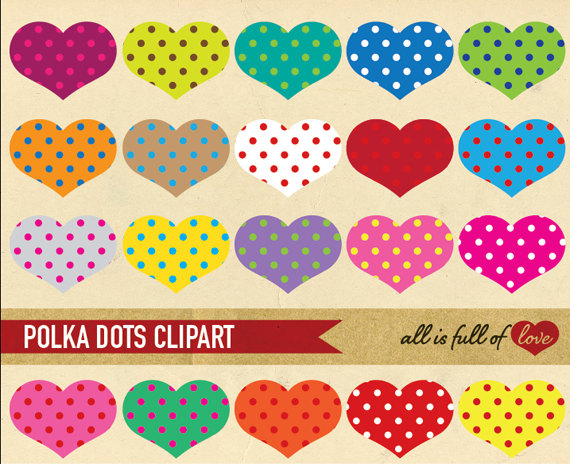 Heart-shaped clipart printable Clip elements Digital shaped Scrapbooking