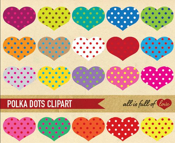 Dots clipart rainbow Heart Rainbow Graphics AllFullOfLove CLIPART