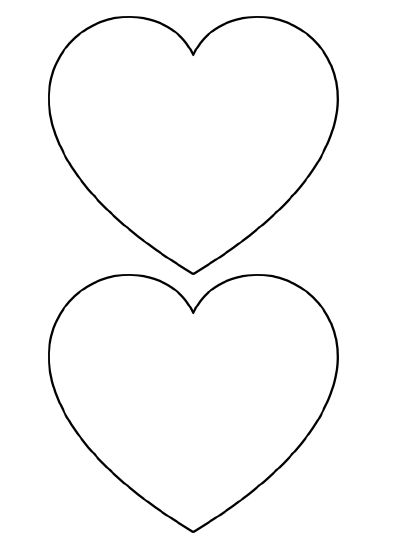 Heart-shaped clipart printable Small Medium Out Templates Cut