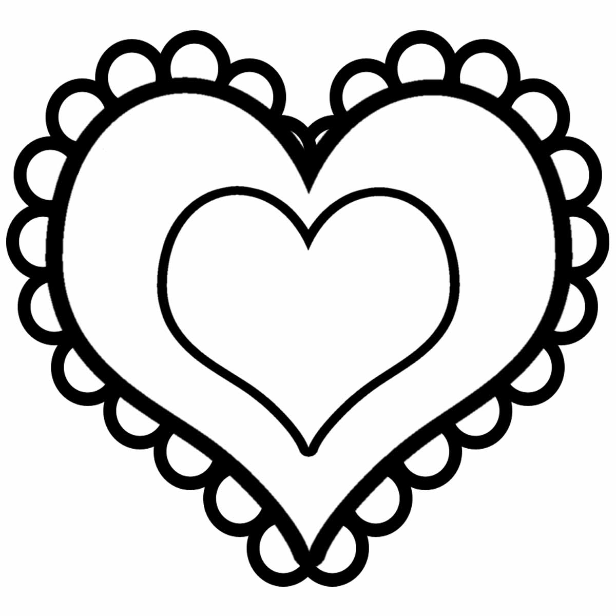 Heart-shaped clipart printable #3