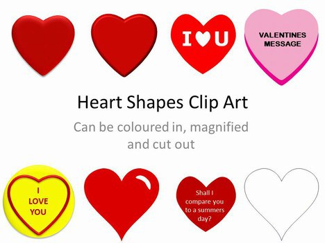 Heart-shaped clipart printable #13