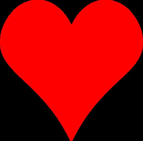 Heart-shaped clipart printable #12