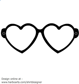 Heart-shaped clipart printable #14