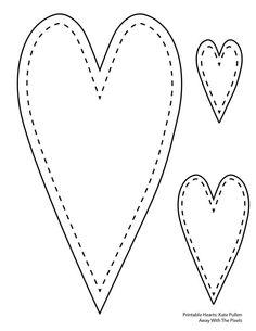 Heart-shaped clipart printable #11