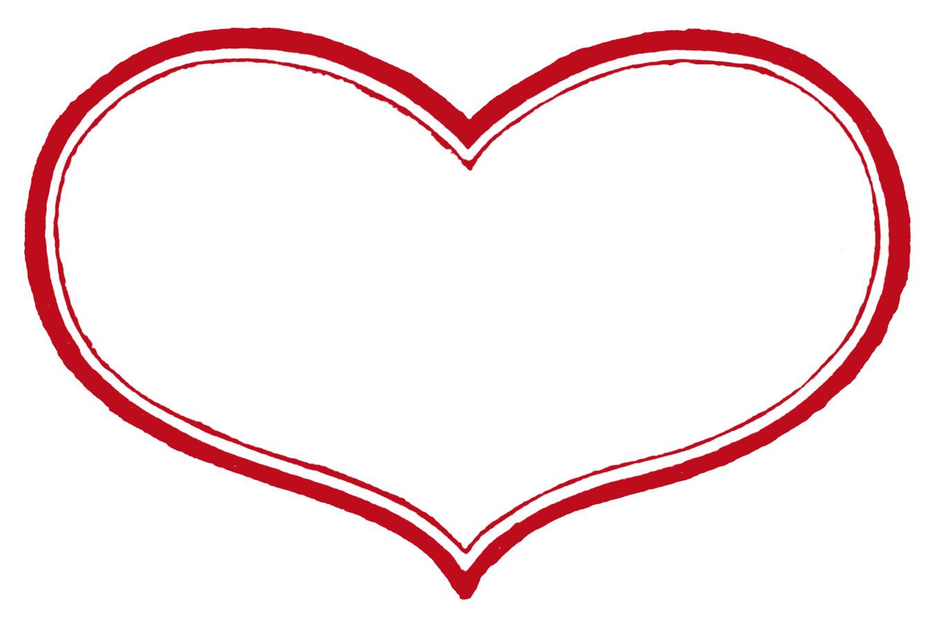Heart-shaped clipart printable #2